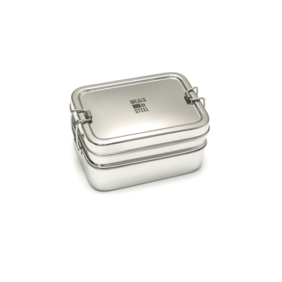 Meals in Steel - Twin Layer Rectangular Lunchbox