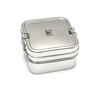 Meals in Steel - Twin Layer Square Lunchbox